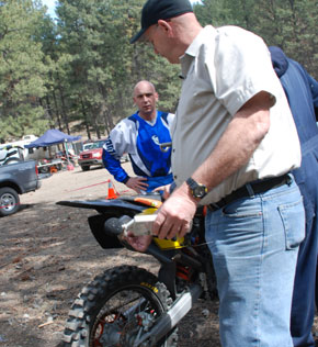 BCORMA's Terry Burke says most dirt bikes are below the acceptable limit.  (Photo: Kelly Hayes - Castanet)</br>