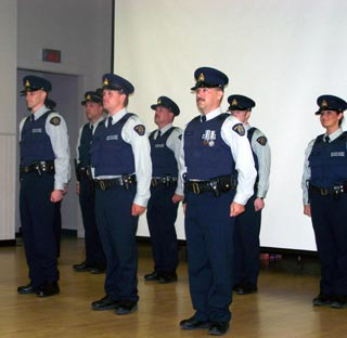 New 2007 RCMP Auxiliary Officers. (Photo: Wayne Moore - Castanet)