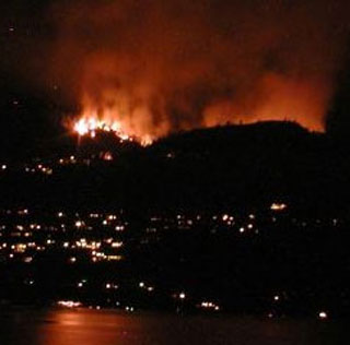 About 700 people were evacuated during the Rose Valley Fire of 2005. (Photo: Kelly Hayes - Castanet)