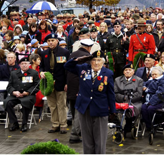 At least three generations were on-hand to pay honour to Canada's war veterans. (photo: Dan Sipos)