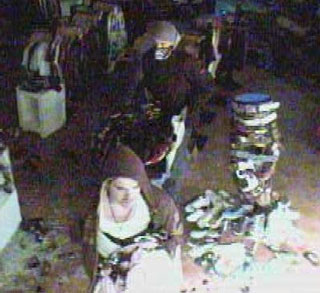 Police hope the public can assist in identifying two males caught on tape. (Contributed).