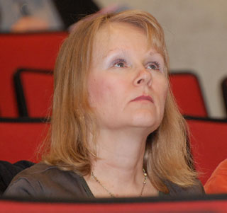 TRACS spokesperson, Sinikka Crossland at a recent City Council meeting. (File Photo: Wayne Moore - Castanet)