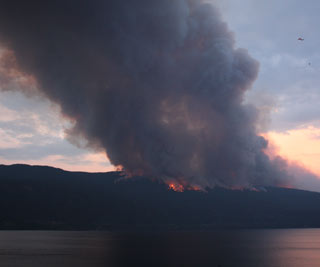 Officials say the Terrace Mountain fire grew by 2,500 hectares Saturday night. (Photo: Contributed - Alison Beaumont)