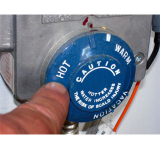 Newer hot water heater thermostats are not calibrated for exact temperature, they rely on general settings.  (Photo: Contributed)