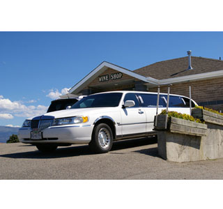 The wineries attract big money as the limo outside of the Mt. Boucherie wine shop shows.  (Photo: Devon Brooks)