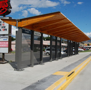 One of seven new bus stations along Highway 97 to accommodate the RapidBus system. (Photo: Wayne Moore - Castanet)
