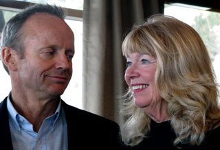 Stockwell and Valorie Day at Saturday's announcement. (Photo: Grant Scott-Castanet)