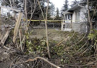 Stolen car hits house driver flees kelowna news for House hits 88