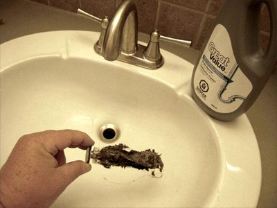 how to clear a clogged sink or bathroom bathtub drain with a plunger