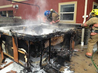 Hot Tub Catches Fire In Coldstream Vernon News