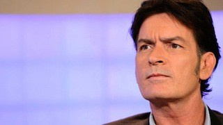 Charlie Sheen at the Today Show last September