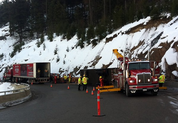 Overturned Semi West Of Princeton Bc News Castanet Net