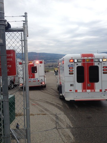 Kelowna Airport's aircraft rescue firefighters, Kelowna Fire Department, BC Ambulance and RCMP are currently on scene for an unsubstantiated and unconfirmed emergency at YLW.