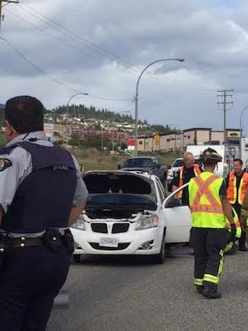 Accidents happen. In West Kelowna Tuesday afternoon seven vehicles were involved in two separate crash locations on Hwy. 97.