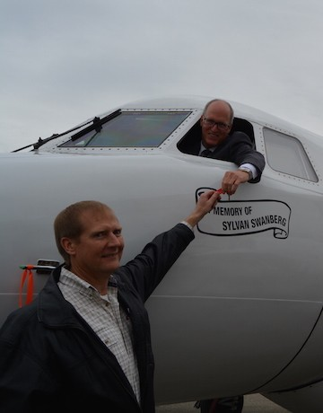 Okanagan College received its largest single donation Tuesday, a plane worth almost $700,000.