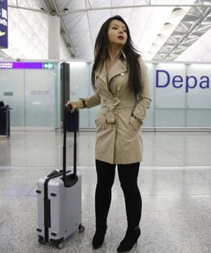 Canada's outspoken Miss World contestant said she was barred Thursday from entering China to take part in this year's pageant.