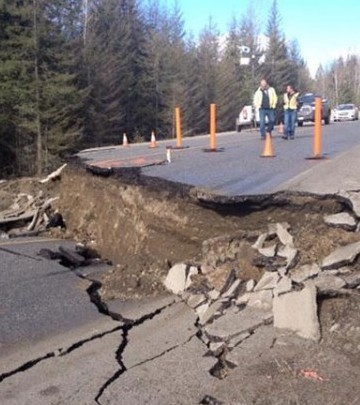 DriveBC reports Highway 6 near the Needles Ferry could reopen as soon as March 21 after a landslide undermined on Feb. 18.