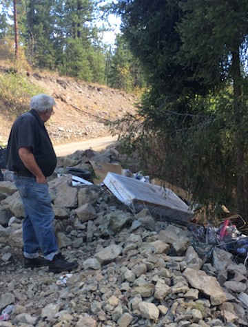 A West Kelowna family found a disgusting surprise on their property Monday evening.