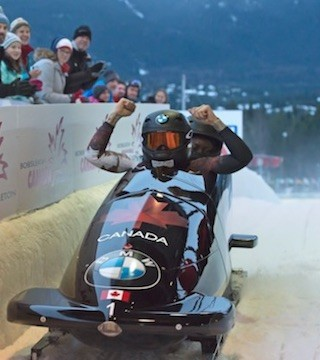 Kaillie Humphries has taken home the gold trophy for Canada at the bobsledding World Cup in Whistler.