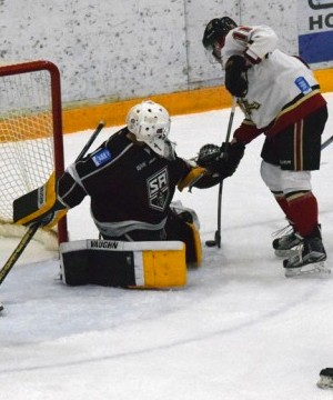 The Salmon Arm Silverbacks scored four unanswered goals and held on to defeat the West Kelowna Warriors 4-3 in BCHL action Tuesday at Royal LePage Place.