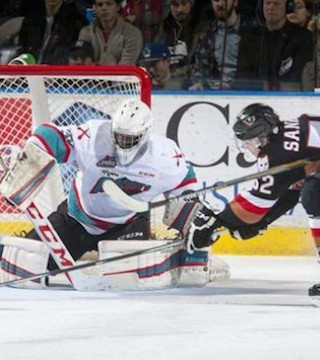Rockets beat Hitmen 3-2 to regain first place in the WHL.