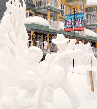 Mounds of snow were turned into works of art at SilverStar Mountain Resort .