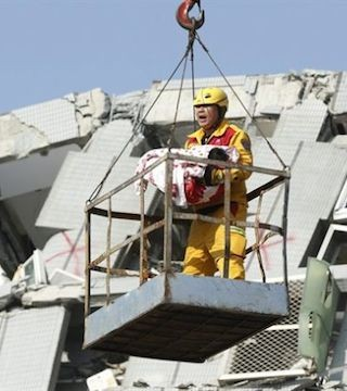 More survivors pulled from collapsed highrise in wake of Taiwan earthquake.