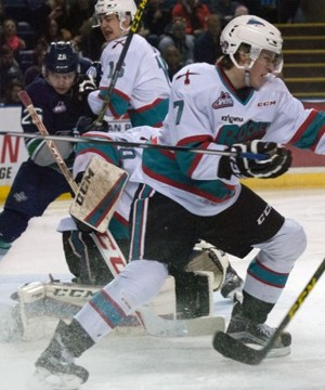 The Kelowna Rockets snapped out of a five game offensive funk Monday afternoon in a convincing 7-4 win over the visiting Seattle Thunderbirds.