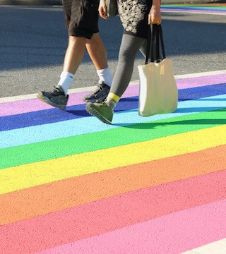 Penticton Secondary School students will paint crosswalks in their parking lot with rainbow colours.
