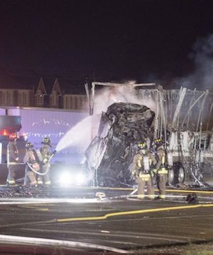 Five people were killed in a fiery multi-vehicle crash Friday night on Highway 400 in north Toronto.