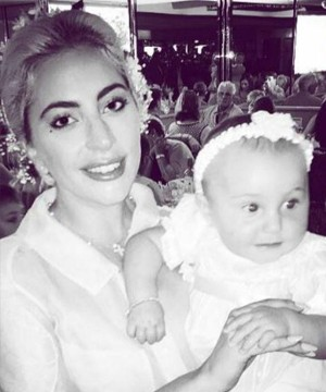 Lady Gaga was named as one of the three godparents of her friends' Brian and Angie's little daughter Sistilia.
