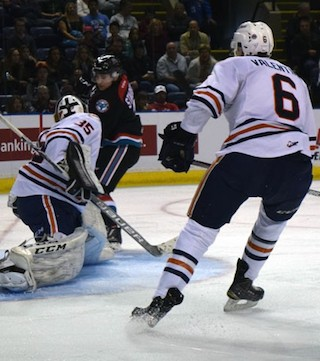 The Kelowna Rockets rebounded from an embarrassing season opening loss Friday with a 5-1 win in their home opener.