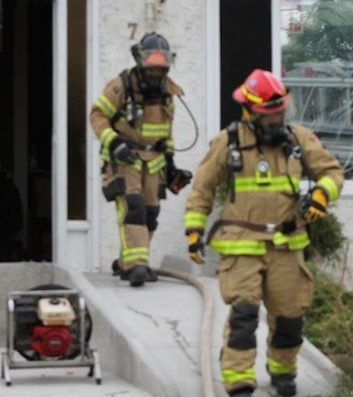 Penticton firefighters were called into action after reports of a house fire in the 700 block of Revelstoke Avenue, Saturday afternoon.