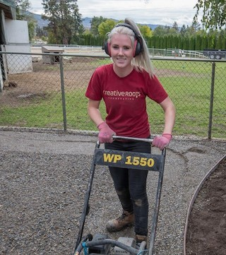 The staff at Creative Roots Landscaping applied their skills to a worthy cause.
