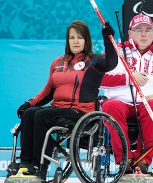 One of this country's most decorated wheelchair curlers, Ina Forrest of Spallumcheen, has her eyes set on more gold.