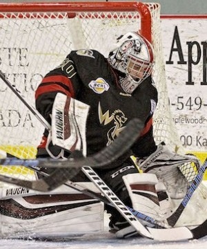 West Kelowna Warriors netminder Cody Porter made 43 saves, but it wasn't enough as the Vernon Vipers won 3-2 in double overtime Wednesday night at Kal Tire Place.