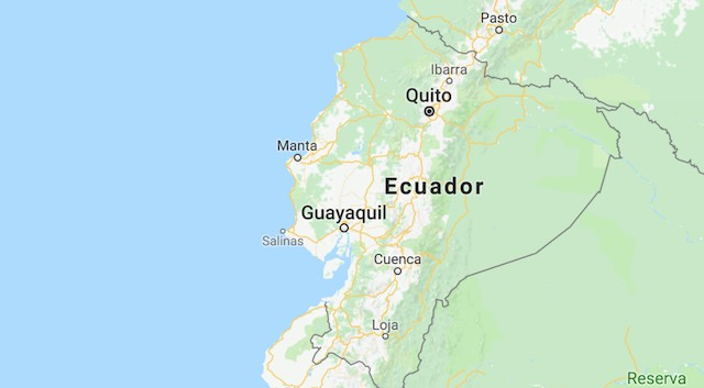 Quake off Ecuadors coast World News Castanetnet