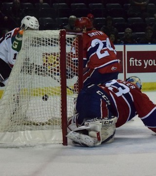 The Spokane Chiefs found the game winning goal in OT in a 5-4 win over the Rockets Friday night.