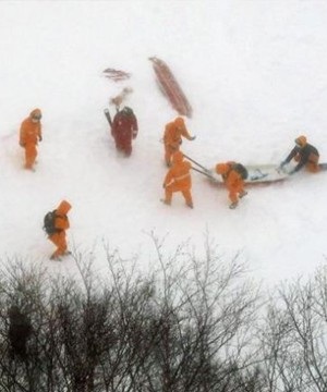 Eight Japanese high school students were presumed dead after being caught in an avalanche Monday.