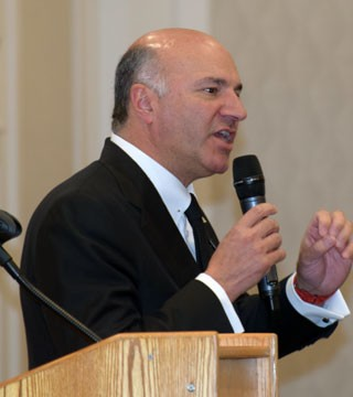 Conservative Party leadership hopeful Kevin O'Leary brought his message of hope for Canada to Kelowna Saturday.