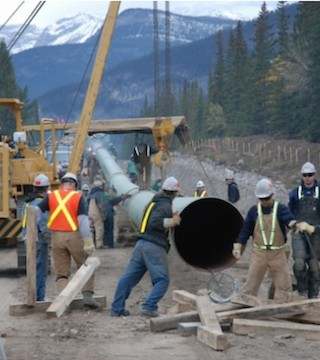 Trans Mountain expansion faces problems.
