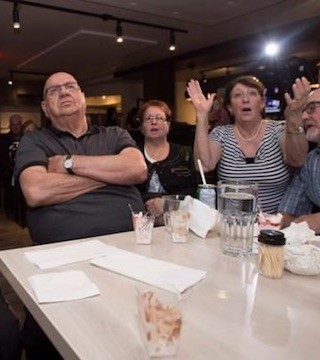 Conservative leadership contender Maxime Bernier's riding of Beauce had mixed reactions to his surprise loss on Saturday.
