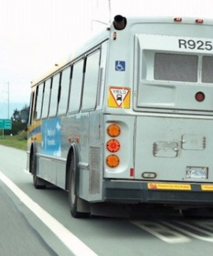 A transit rider used an app on his phone to clock his bus driver going more than 20 km/h over the speed limit.