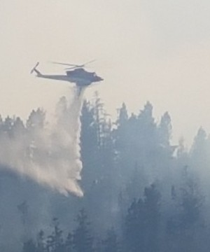 For the first time in days, a new evacuation order has been issued for homes near one of the scores of wildfires raging in British Columbia.