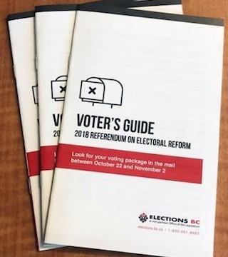 British Columbians will soon start receiving mailed ballots for a chance to vote in a referendum.