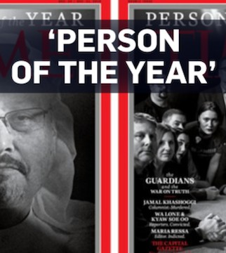 Time magazine named four journalists and a newspaper as the, person of the year.