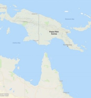 A large earthquake has struck the middle of Papua New Guinea.