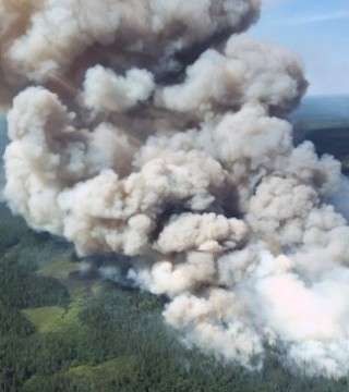 Crews are continuing to battle dozens of forest fires in northeastern Ontario.