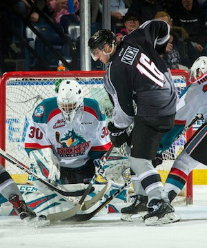 Kelowna Rockets shut out by Vancouver Giants in 2-0 loss.