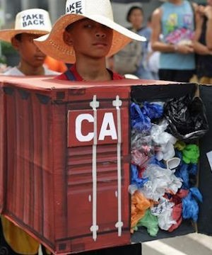 Canada won't sign treaty that would ban sending garbage and recyclables to other countries.